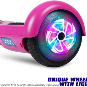 hoverboard with unique wheel and lights