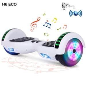 H6 Eco White Hoverboard Auto Balance