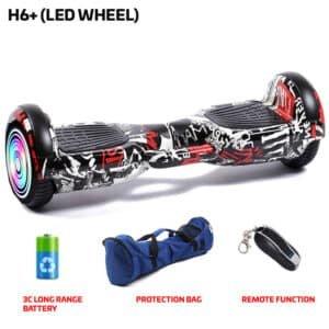 h6+ led wheel hoverboard