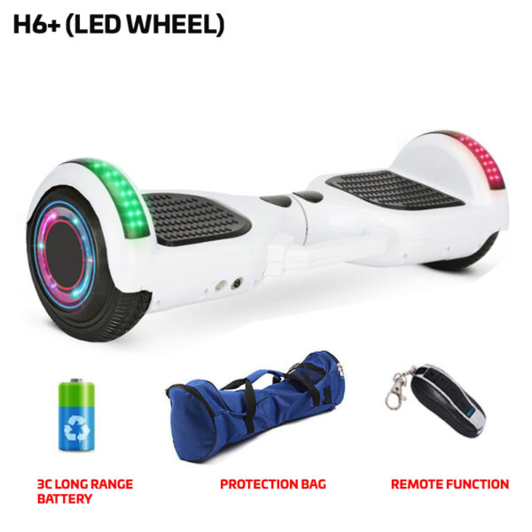 H6+ White Hoverboard