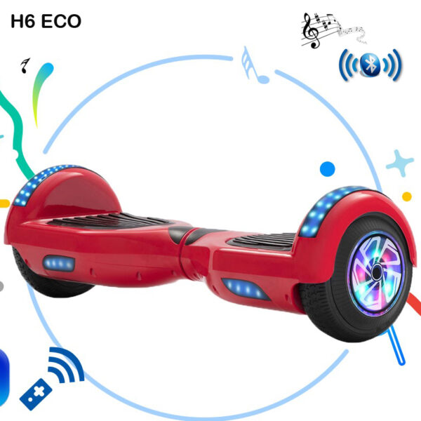 H6 Eco Red Hoverboard Auto Balance