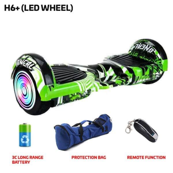 green benten printed hoverboard