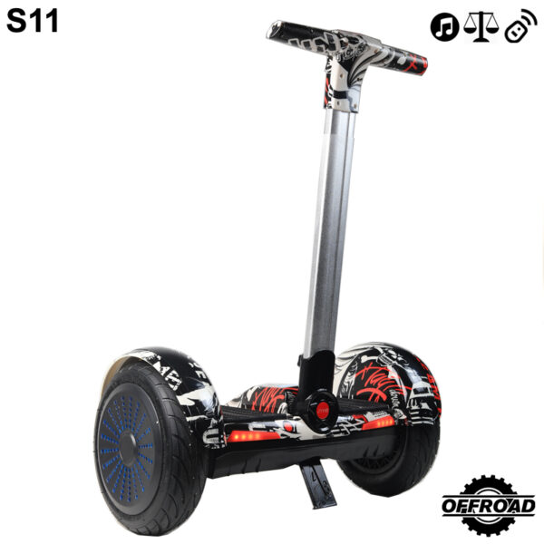 street with handle hoverboard segway